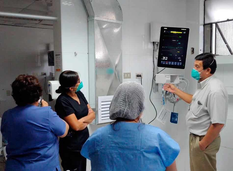 CORONAVIRUS: LA IAFAS - EP renueva equipamiento de la sala de aislados de la unidad de cuidados intensivos y las salas de uci polivalente del HMC